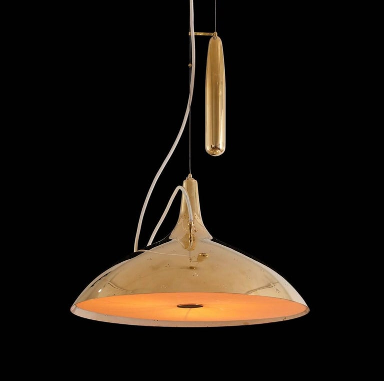 Paavo Tynell Brass Counter Weight Pendant Lamp A1965