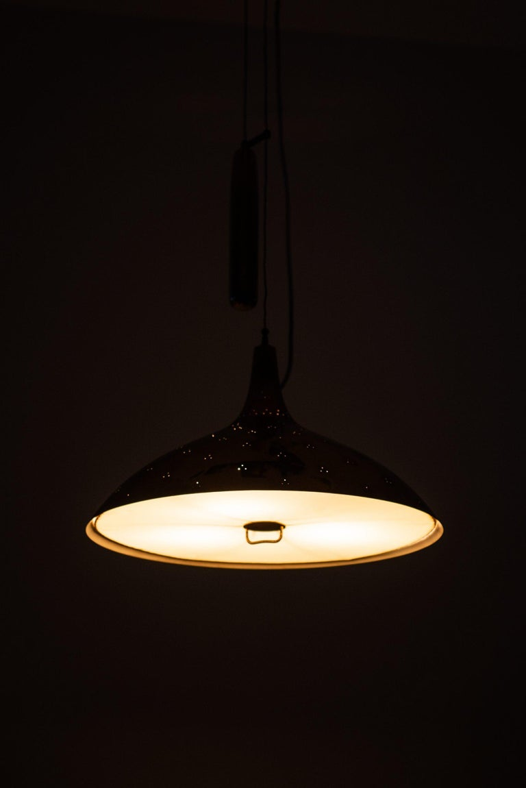 Scandinavian Modern Paavo Tynell Ceiling Lamp Model A1965 Produced by Taito Oy in Finland For Sale