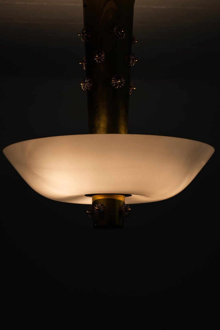 Paavo Tynell Ceiling Lamp Produced by Taito Oy in Finland In Good Condition For Sale In Malmo, SE