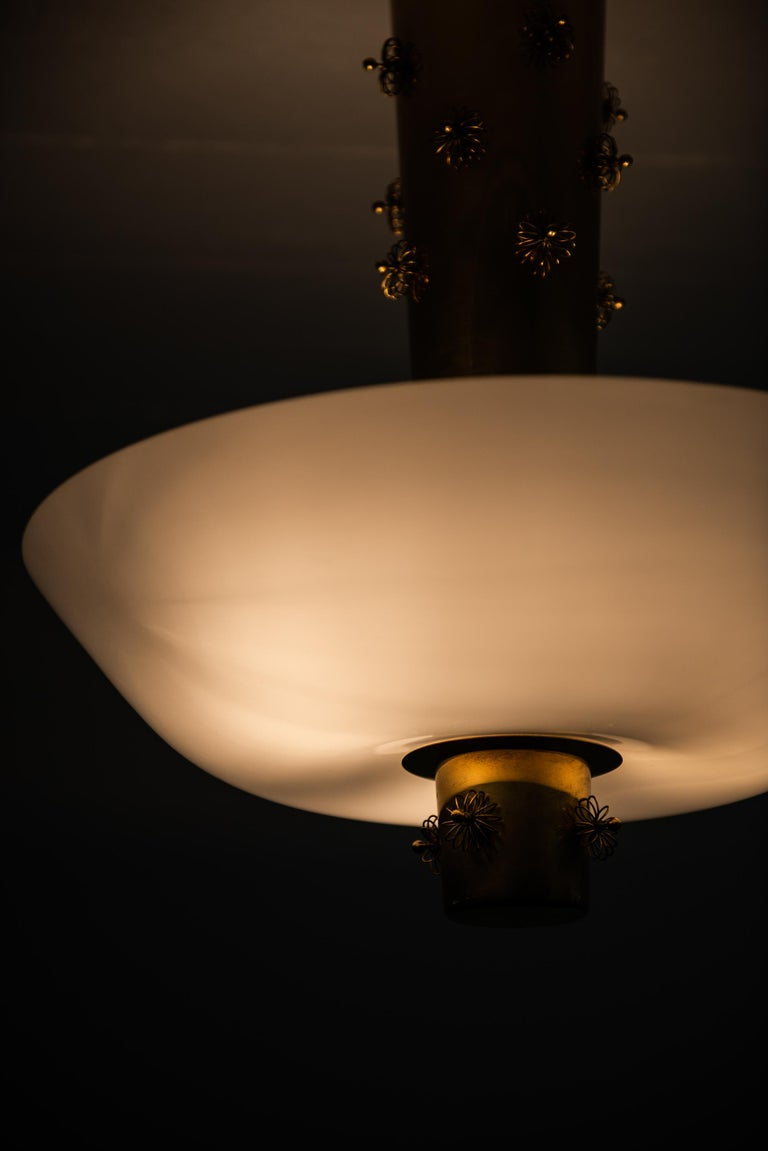 Mid-20th Century Paavo Tynell Ceiling Lamp Produced by Taito Oy in Finland For Sale