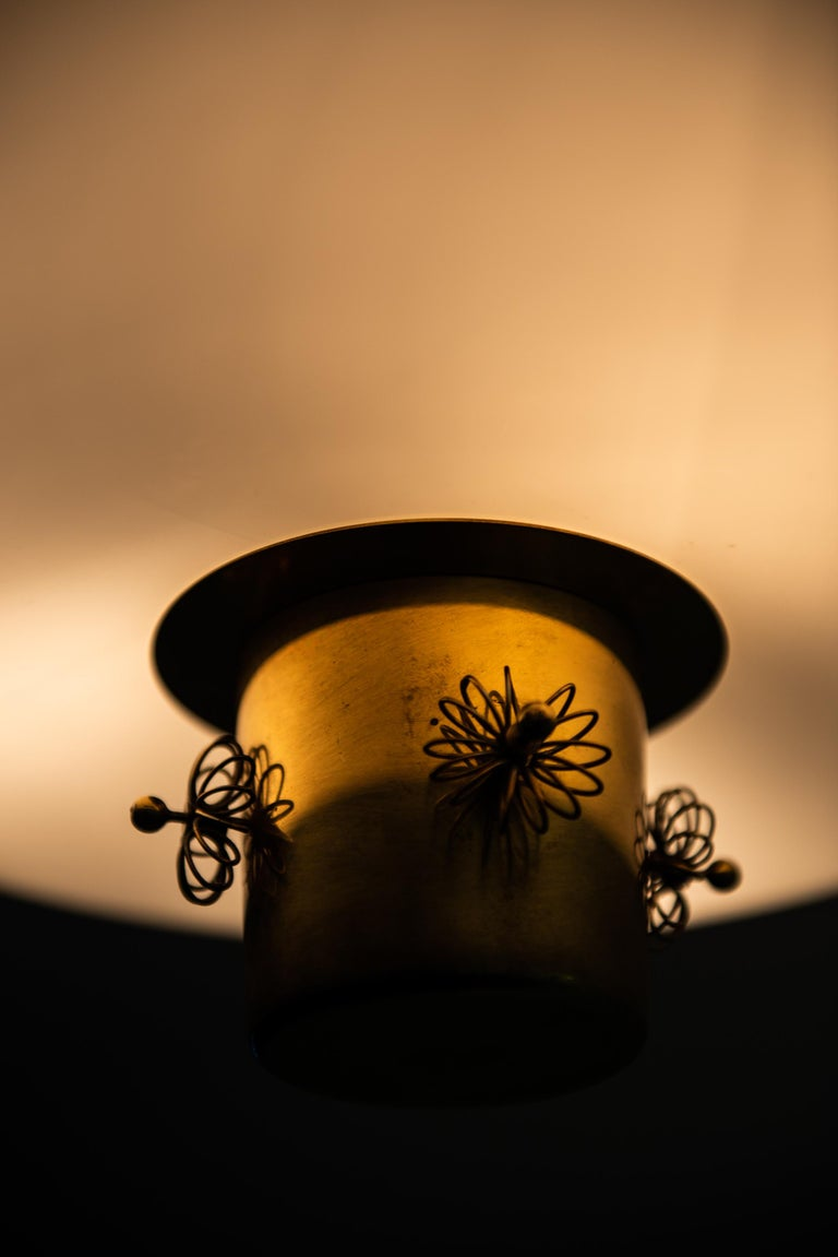 Brass Paavo Tynell Ceiling Lamp Produced by Taito Oy in Finland For Sale