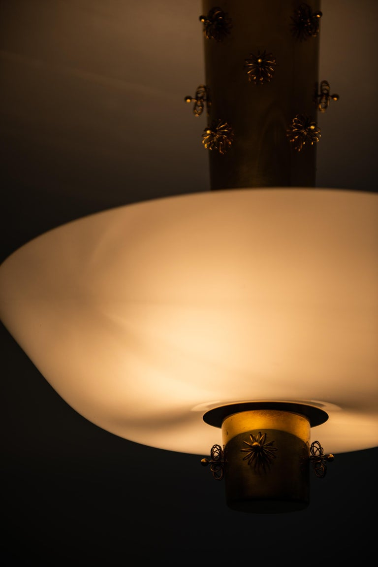 Paavo Tynell Ceiling Lamp Produced by Taito Oy in Finland For Sale 1