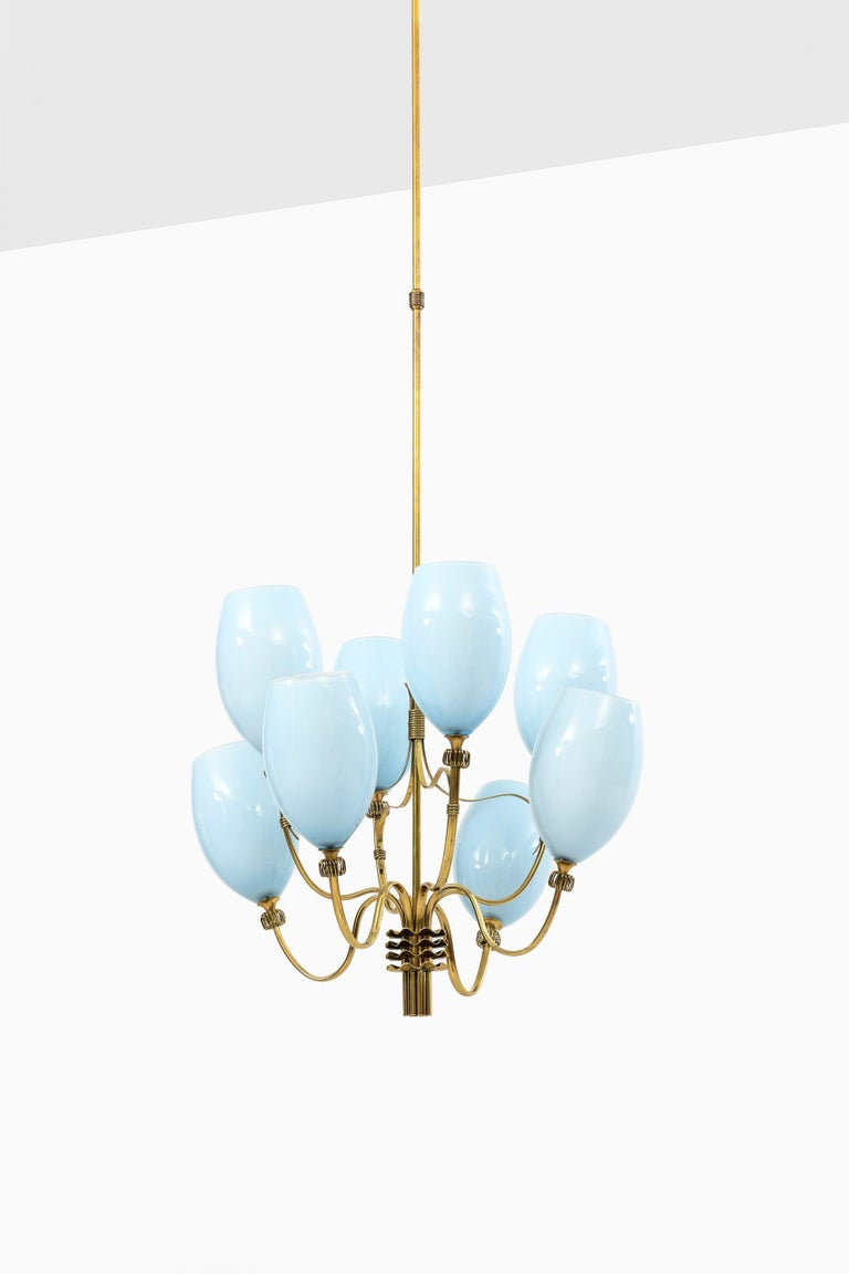 Very rare ceiling lamps designed by Paavo Tynell. Produced by Taito Oy in Finland. Price is listed / item.