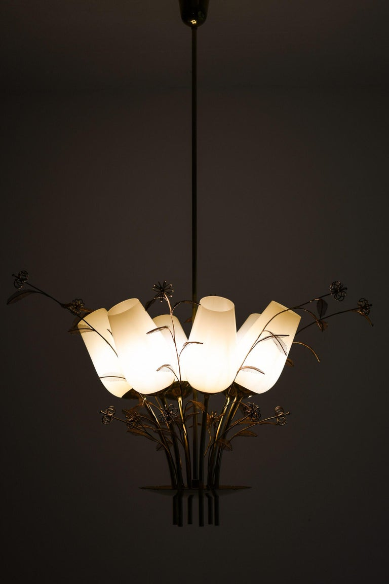 Finnish Paavo Tynell Ceiling Lamps Produced by Taito Oy in Finland For Sale