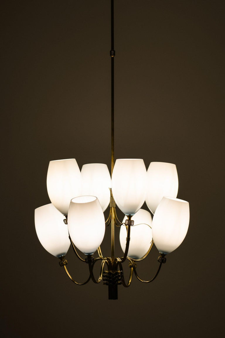 Mid-20th Century Paavo Tynell Ceiling Lamps Produced by Taito Oy in Finland For Sale