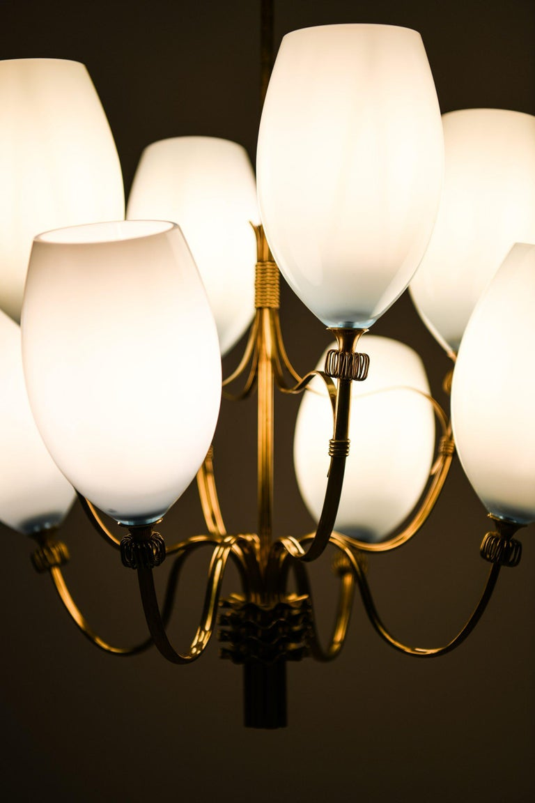 Glass Paavo Tynell Ceiling Lamps Produced by Taito Oy in Finland For Sale