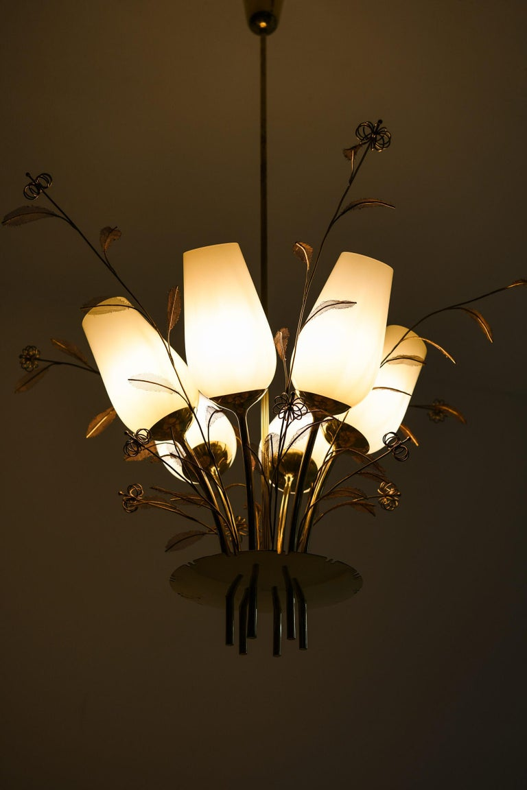 Paavo Tynell Ceiling Lamps Produced by Taito Oy in Finland For Sale 1