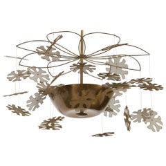Paavo Tynell Chandelier with Snowflakes EARLY Model 9065