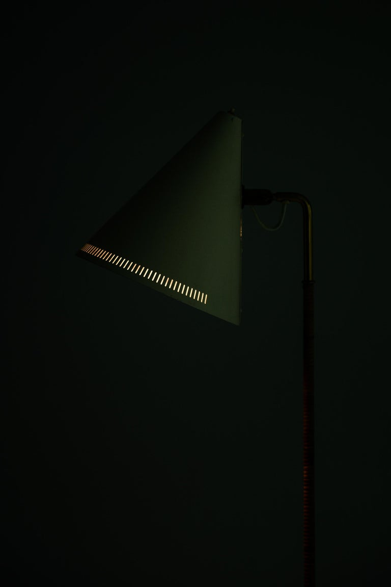 Brass Paavo Tynell Early Floor Lamp Model K-10-10 by Taito Oy in Finland For Sale