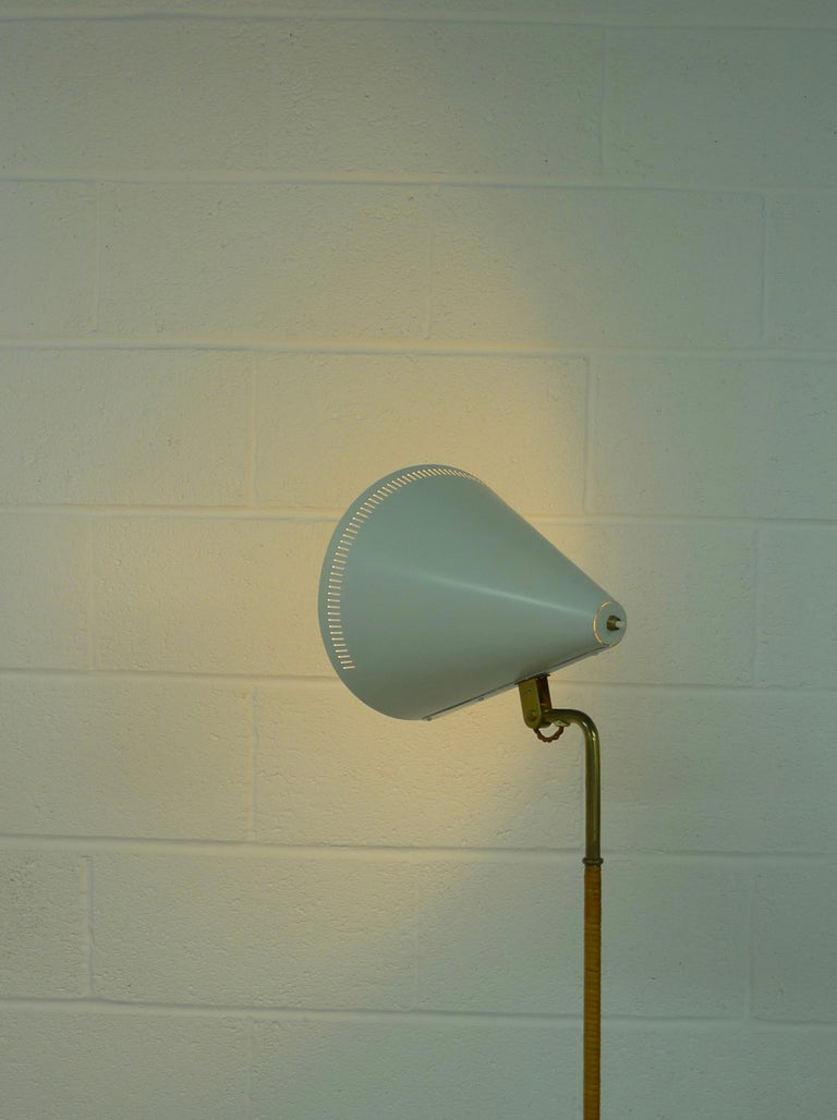 Mid-20th Century Paavo Tynell Floor Lamp, Taito Oy Finland Model K10-10 1940s, Signed For Sale