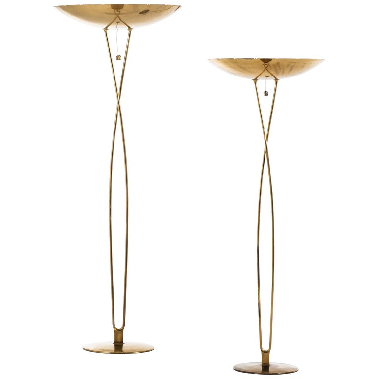 Paavo Tynell Floor Lamps Model 10506 Produced by Taito Oy in Finland For Sale