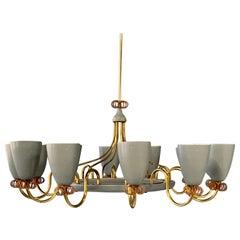 Paavo Tynell Impressive 12-Light Chandelier for Lightolier