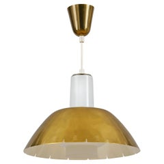 Paavo Tynell Model K2-20 Brass Pendant Ceiling Lamp Produced by Idman Oy
