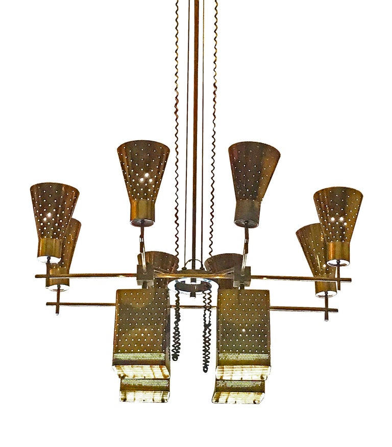 Mid-20th Century Paavo Tynell Monumental Chandelier For Sale