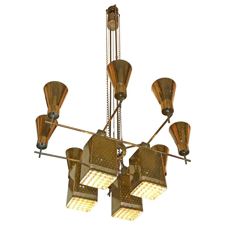 Paavo Tynell Monumental Chandelier For Sale