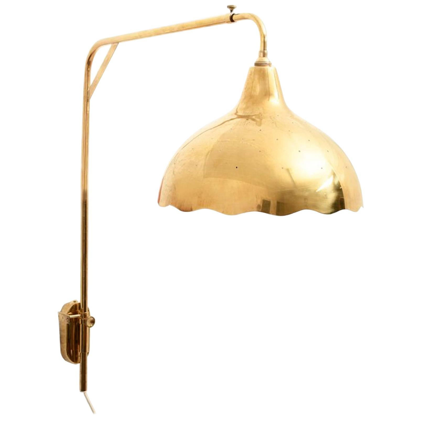 Paavo Tynell Pair of Wall Lamps Manufactured by Taito Oy, Finland, 1940