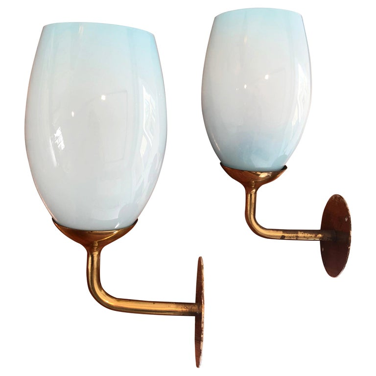 Paavo Tynell Pair of Wall Lights for Taito Oy, 1940s