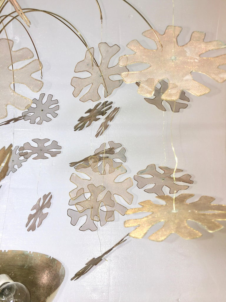 Paavo Tynell Snowflake Chandelier by Taito Oy Finland For Sale 3