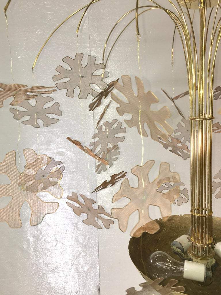 Paavo Tynell Snowflake Chandelier by Taito Oy Finland For Sale 2