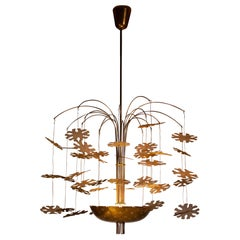 Paavo Tynell 'Snowflake Number Three' Chandelier for Taito Oy Model 9041