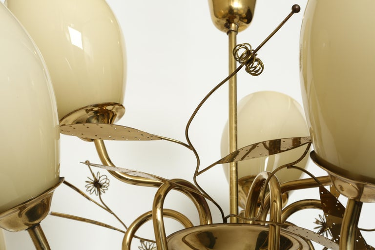 Finnish Paavo Tynell Style Chandelier by Itsu For Sale