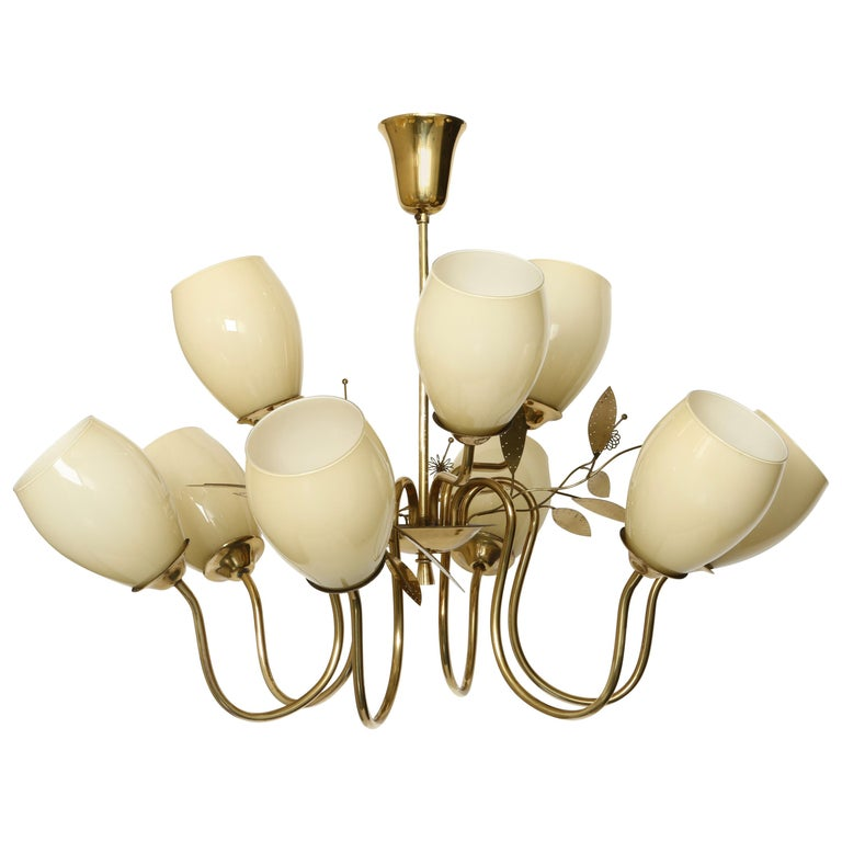 Paavo Tynell Style Chandelier by Itsu For Sale