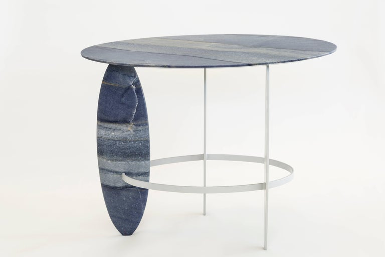 Pablina Azul Macaubas Side Table by Leonardo Di Caprio In New Condition For Sale In Firenze, IT