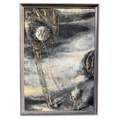 Pablo Burchard Aguayo 1963 Chilean Brutalist Futurist Painting