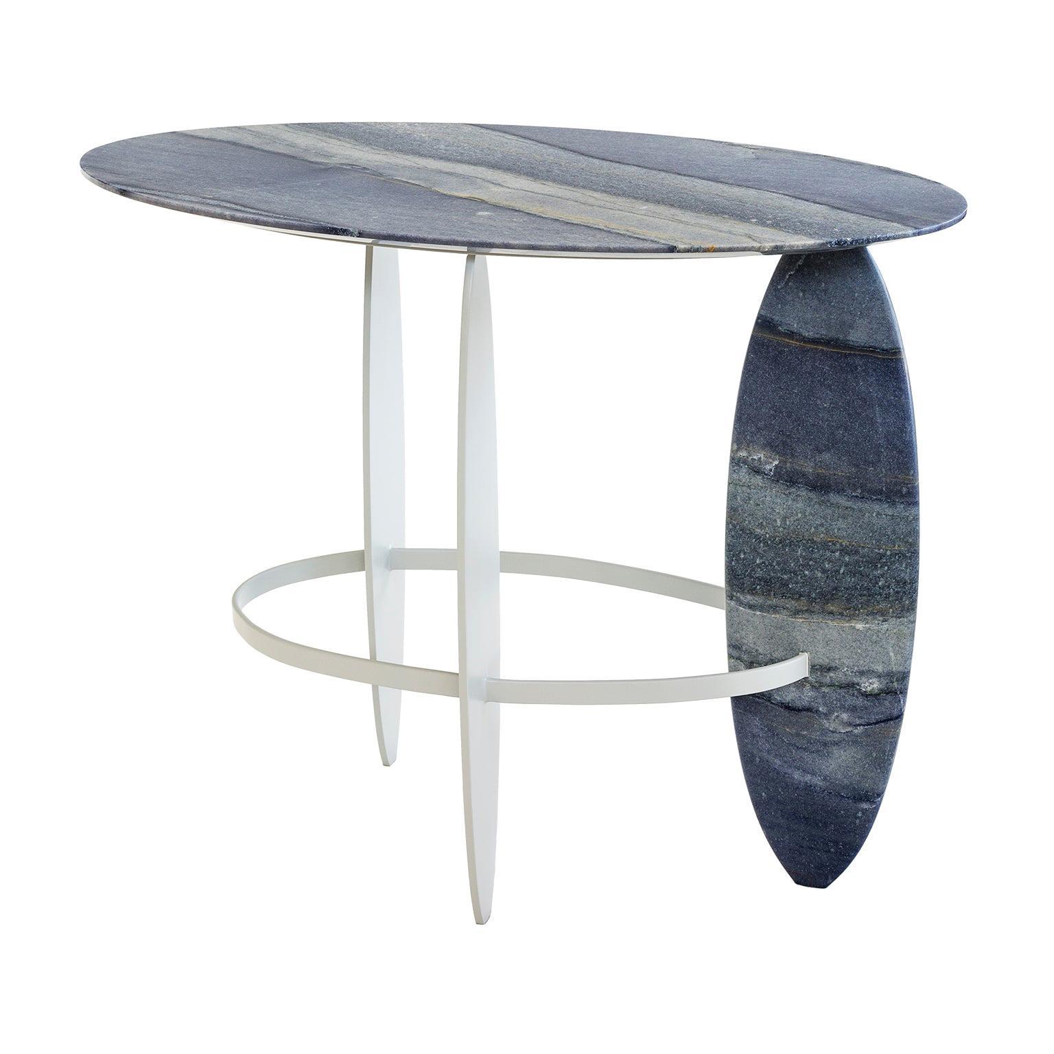 Pablina Side Table  Made of Brazilian Semi-Precious Quartzite Stone
