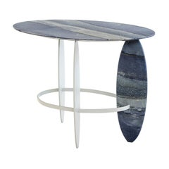 Pablina Side Table  Made of Brazilian Semi-Precious Quartzite Stone