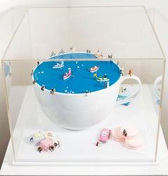 'Tea Time (Macarons)' original sculpture by Pablo Dona