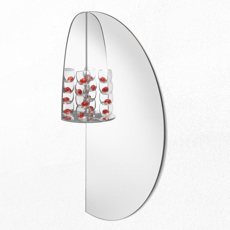 Modern Pablo Mirror by Marco Brunori by Adele C For Sale