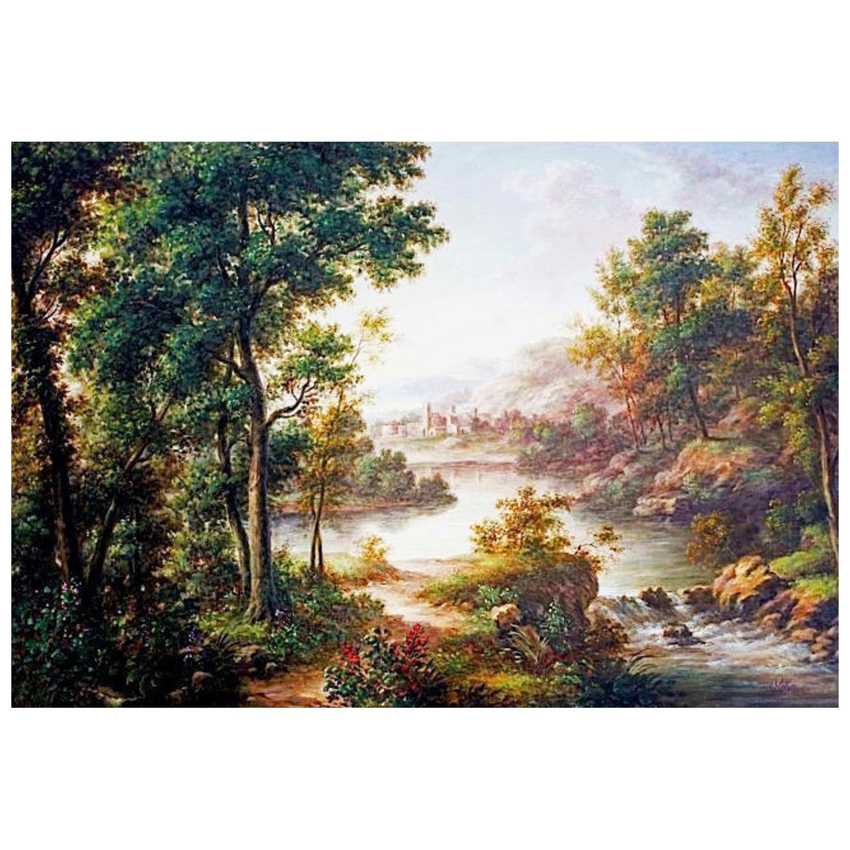 """Pablo Munoz Untitled """"Woodland Landscape"""""""
