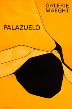 """Palazuelo - Galerie Maeght"" Abstract Original Vintage Exhibition Poster"