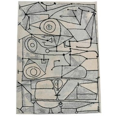 """Pablo Picasso 'after' """"La Cocina"""" Art Rug white Abstract by Desso"""