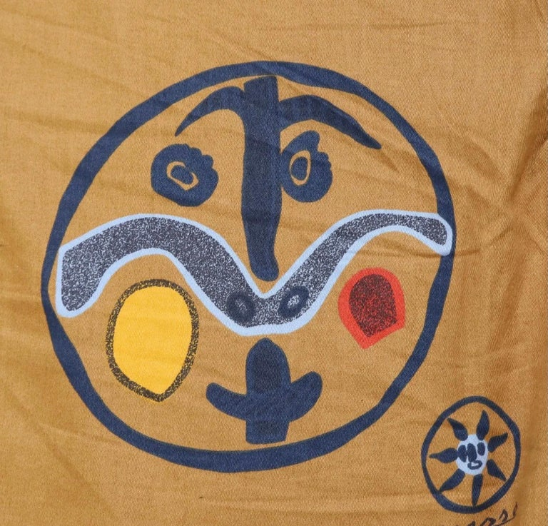 Pablo Picasso, Carolyn Winters, Café Picasso Modern Textile, England, UK, 1970s In Good Condition For Sale In Brooklyn, NY