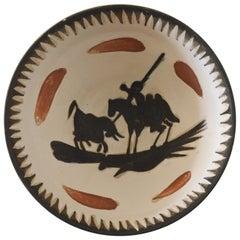 Pablo Picasso Ceramic Bowl, Picador and Bull, Atelier Madoura, Vallauris, 1955