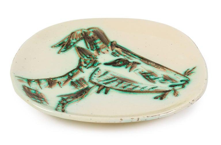 "French Pablo Picasso Ceramic Plate ""Tete de Chevre de Profil"" for Madoura, France, 1950 For Sale"