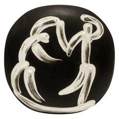 """Pablo Picasso """"Danseurs Sur Fond Fonce"""" Ceramic Plate, 1956"""