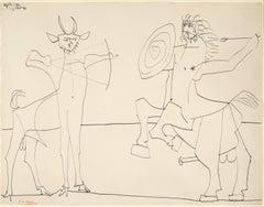Pablo Picasso - Combat de Faune et de Centaure
