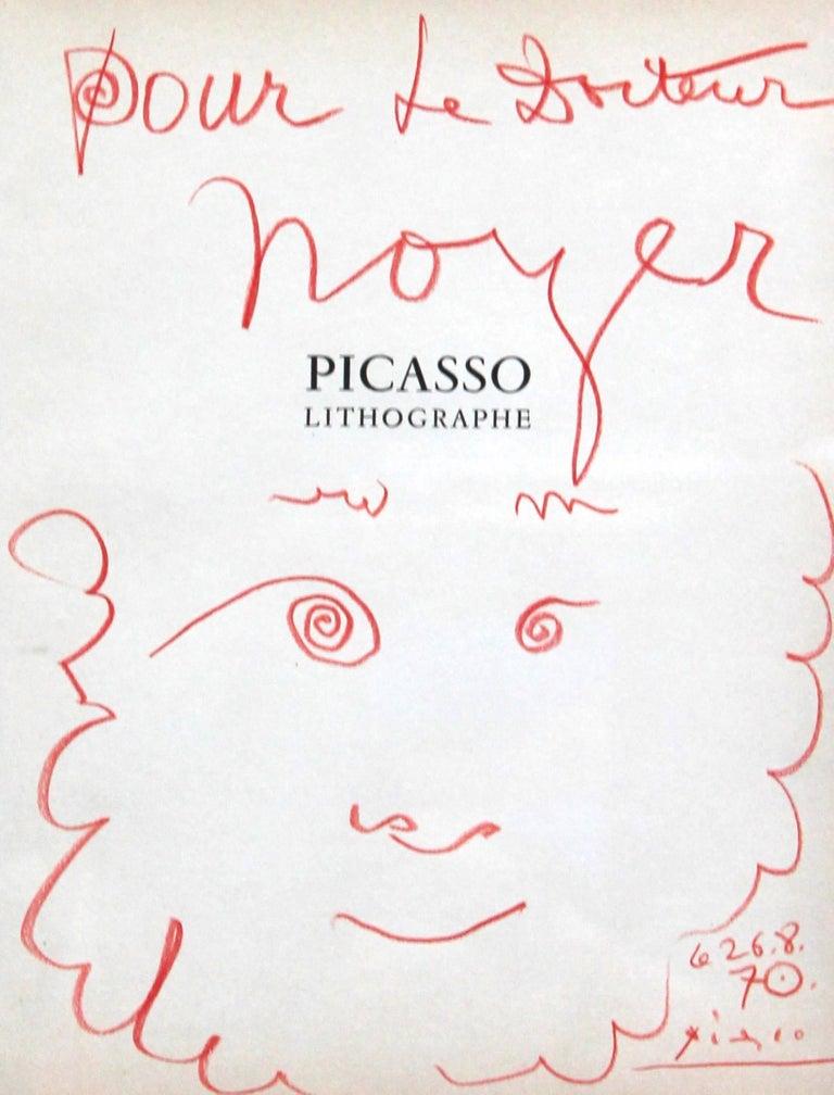"""Pablo Picasso """"Dédicace pour le Docteur Noyer"""""""