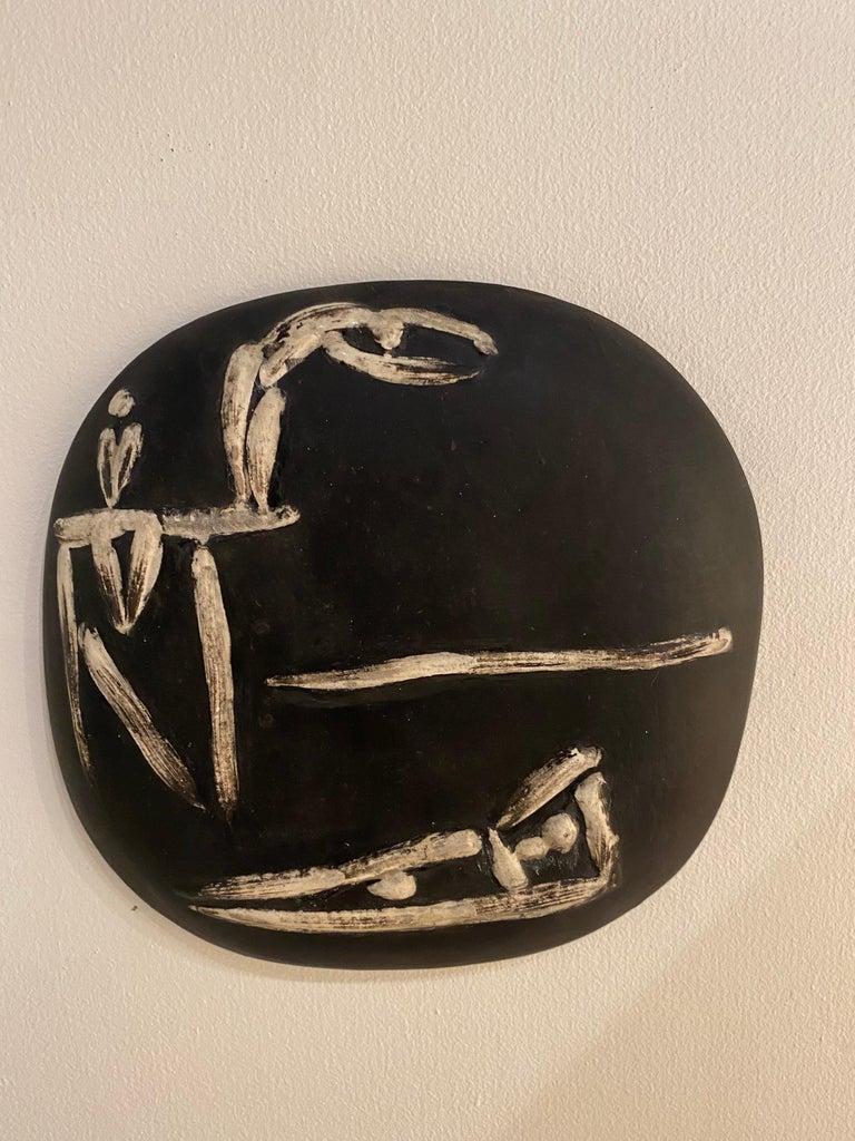 Pablo Picasso ceramic wall plaque for Madoura Edition 450 ex, circa 1956 Beach scene.