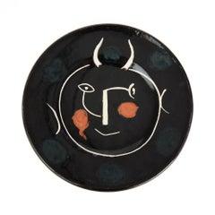Pablo Picasso Ltd Edition Service Visage Noir Plate, 1948