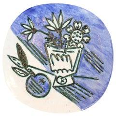 Pablo Picasso, Madoura Ceramic Plaque, Bouquet à la Pomme, 1956