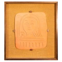 """Pablo Picasso Madoura, """"Visage De Femme"""", Edition Madoura, 1971"""