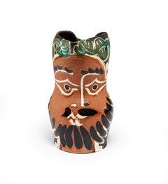 Le Barbu, Pablo Picasso, 1950's, Sculpture, Pitcher, Terracotta, Earthenware