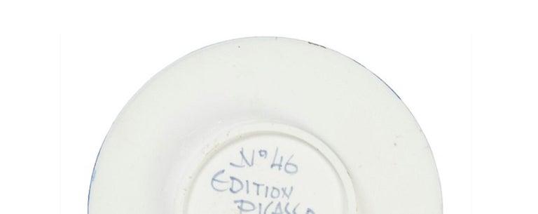 Pablo Picasso Madoura Ceramic Plate- Visage no. 46. Ramié 466 - Abstract Print by Pablo Picasso