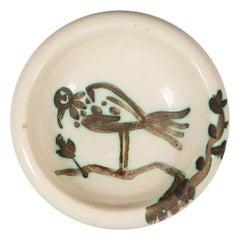 Pablo Picasso Madoura, Oiseau sur la Branche, 1952, Stamped