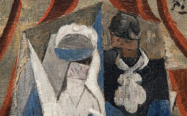 Les Communiants - Black Figurative Painting by Pablo Picasso