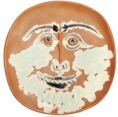 """Pablo Picasso Ceramic """"Visage Barbu"""""""